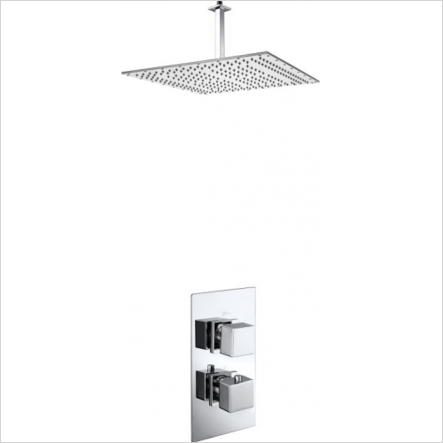 Aquaflow - Ixos Twin Concealed Thermostatic Shower Valve MP