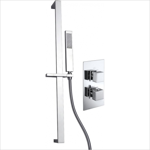 Aquaflow - Pure Twin Concealed Thermostatic Shower Valve MP