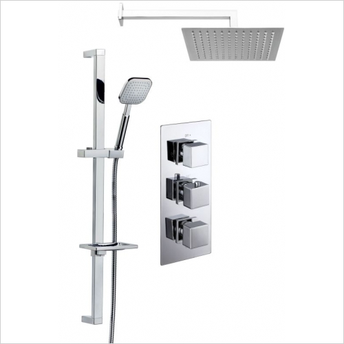 Aquaflow - Pure Triple Concealed Thermostatic Shower Valve MP